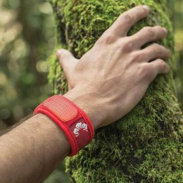 Parakito Adult Mosquito Wristbands - Red Floral Hawaii