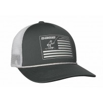Sage Cap Mesh Back - Charcoal Foam Flag