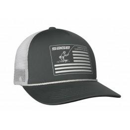 Sage Cap Mesh Back - Charcoal Foam Flag