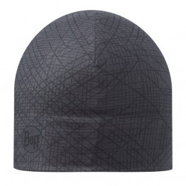 Buff Microfibre/Polar Fleece Beanie Hat - Houma Graphite
