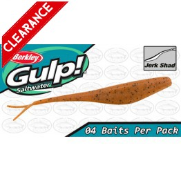 "Berkley Gulp Saltwater Jerk Shad 7"" Pumpkin Seed Softbait"