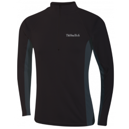 Thermatech Ultrasport L/S 1/4 Zip Men's Baselayer Black/Charcoal