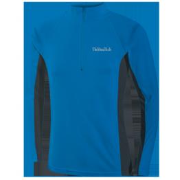 Thermatech Ultrasport L/S 1/4 Zip Men's Baselayer Cobalt/Charcoal