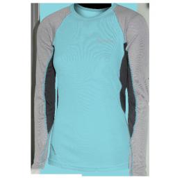 Thermatech Merino L/S Woman's Baselayer Aqua/Charcoal