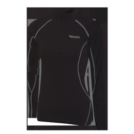 Thermatech Ultrasport L/S 1/4 Zip Women's Baselayer Black/Charcoal