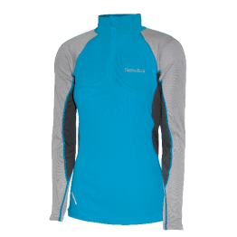 Thermatech Ultrasport L/S 1/4 Zip Women's Baselayer Turquoise/Gray/Charcoal