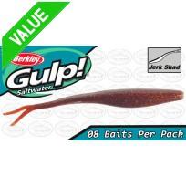 "Berkley Gulp Jerk Shad 5"" Root Beer Softbait"