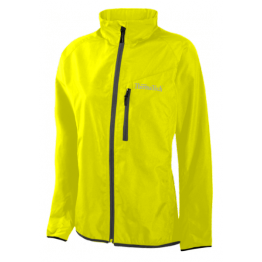 Thermatech Fluoro Yellow Pack Away Running Jacket Woman's