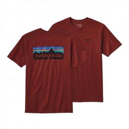 Patagonia Men's P-6 Logo T-Shirt - Red