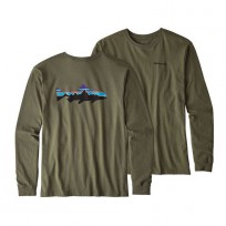 Patagonia Men's Long-Sleeved Fitz Roy Tarpon Organic Cotton T-Shirt