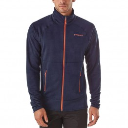Patagonia Men's R1 Full Zip Fleece Jacket - Navy Blue