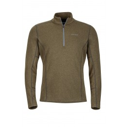 Marmot Abbott 1/2 Zip Long Sleeve Top - Forest Heather