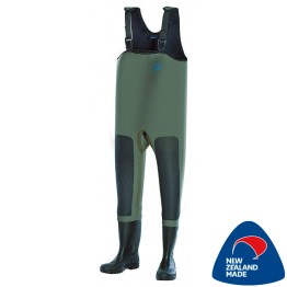 Dryline Xtreme Chest Waders 5mm Olive w/ Whitebaiter Kneepad