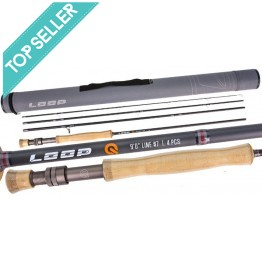 """Loop Q 9'0"""" #7 Weight 4 Piece Fly Rod"""