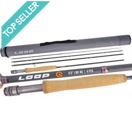 """Loop Q 9'0"""" #5 Weight 4 Piece Fly Rod"""