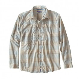 Patagonia Men's L/S Sun Stretch Shirt - Back Cast Bleached Stone