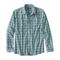 Patagonia Men's L/S Sun Stretch Shirt - Rippled Mogul Blue