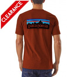 Patagonia Men's P6 Logo Cotton T-Shirt - Cinder Red - XL