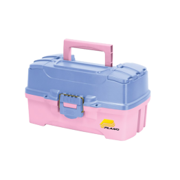 Plano 2 Tray Tackle Box - Pink/Periwinkle