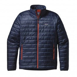 Patagonia Men's Nano Puff Jacket  - Navy/Red