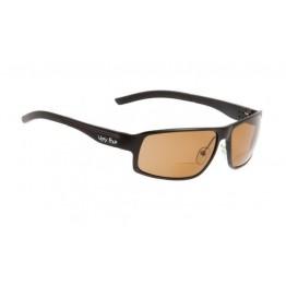 Ugly Fish Avalanche Matte Black Bifocal Sunglasses - Brown Polarised Lens +2.00