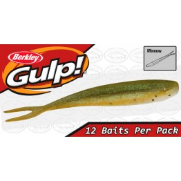 "Berkley Gulp Minnow 4"" Banana Prawn Softbait"