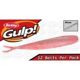 "Berkley Gulp Minnow 3"" Glitter Pink Softbait"