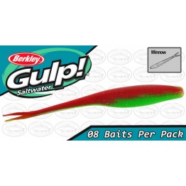 "Berkley Gulp Minnow 4"" Nuclear Chicken Softbait"