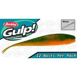 "Berkley Gulp 3"" Minnow Lime Tiger Softbait"
