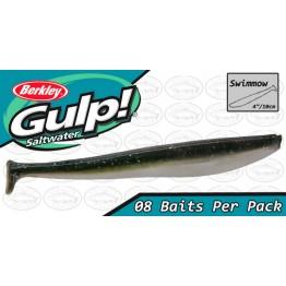 """Berkley Gulp Swimmow 4"""" Emerald Shiner Softbait"""