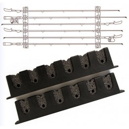Berkley Horizontal Rod Rack 6 Rod Holder