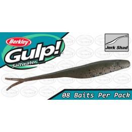 """Berkley Gulp Saltwater Jerk Shad 5"""" Peppered Prawn Softbait"""