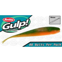 "Berkley Gulp 4"" Minnow Lime Tiger Softbait"