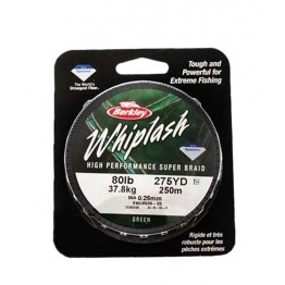 Berkley Whiplash 80lb 250m Green Braid