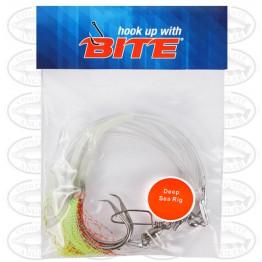 Bite Groper Flash Rig 2H 13/0 Chartreuse