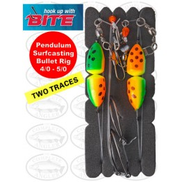 Bite Surfcasting Pendulum Bullet Pully Rig 4/0 + 5/0