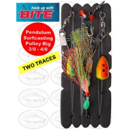 Bite Surfcaster Pendulum Flash Rig 3/0+4/0