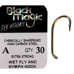 Black Magic A Series Fly Hook Sizes #8 - #16
