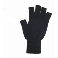 Possum Merino Half Finger Gloves Small - Large