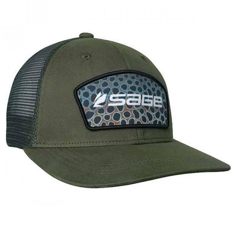 227a10501 Sage Patch Trucker Cap - Green