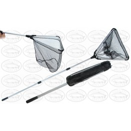 Cobalt Blue Telescopic Long Reach 2.4m Handle Landing Net