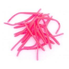 """ClearDrift Trout Worm Pink Glow 2.5"""""""