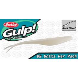 """Berkley Gulp Jerk Shad 5"""" Pearl White Softbait"""