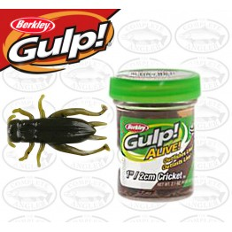 "Berkley Gulp Alive Cricket 1"" Green Pumpkin Softbait"