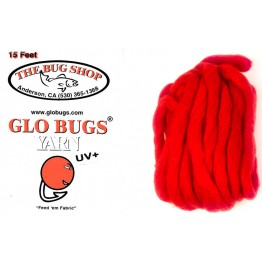 Glo Bug Yarn 15ft Deep Dark Red Colour