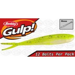 "Berkley Gulp Minnow 4"" Chartreuse Shad Softbait"