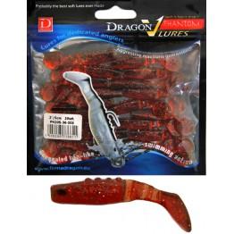 "Dragon V-Lures Phantom 2"" 003 20pcs Cherry Cola Softbait"