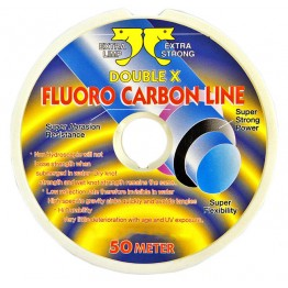 Double X Fluorocarbon Tippet 50m 6lbs