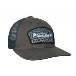 Sage Trucker Cap - Green Patch Brown Trout