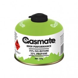 Gasmate Gas - 230g Iso-Butane Gas Canister